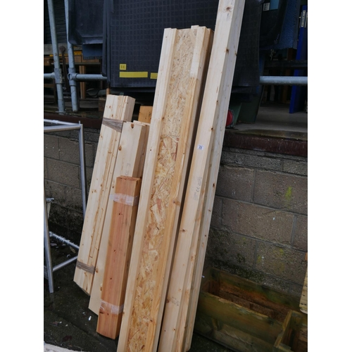 33 - LOT OF WHITE WOOD...