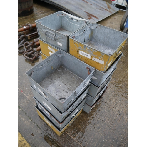 8 - LOT OF GALV TRAYS...