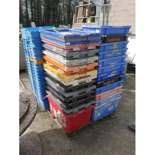 11 - PALLET OF STORAGE BOXES...