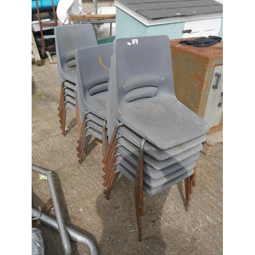 14 - LOT OF STACKING CHAIRS...