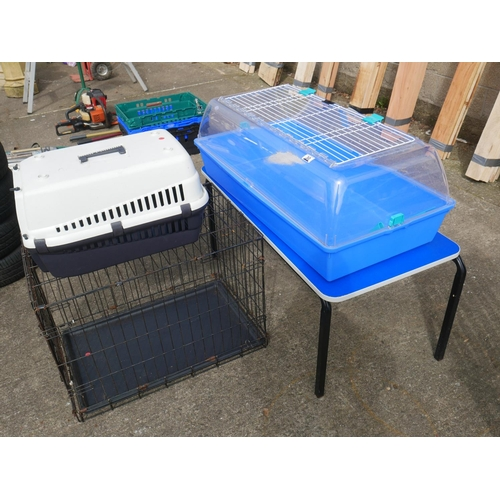 30 - LOT OF PET CAGES ETC...