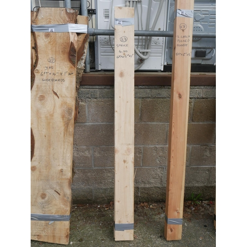 47 - 4 WHITE WOOD PLANKS...