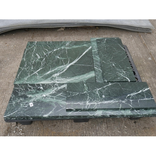 18 - PALLET OF POLISHED MARBLE...
