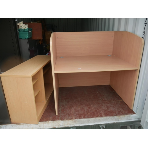 4 - OFFICE DESK & BOOKCASE...