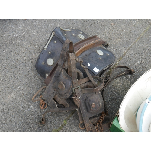45 - LOT OF HORSE HARNESS...