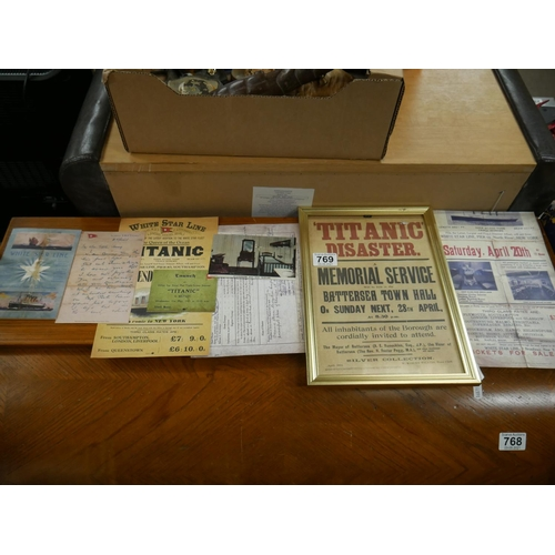 769 - LOT OF TITANIC RELATED ITEMS...
