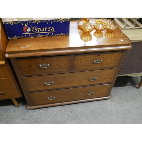 770 - ANTIQUE PINE CHEST OF DRAWERS...