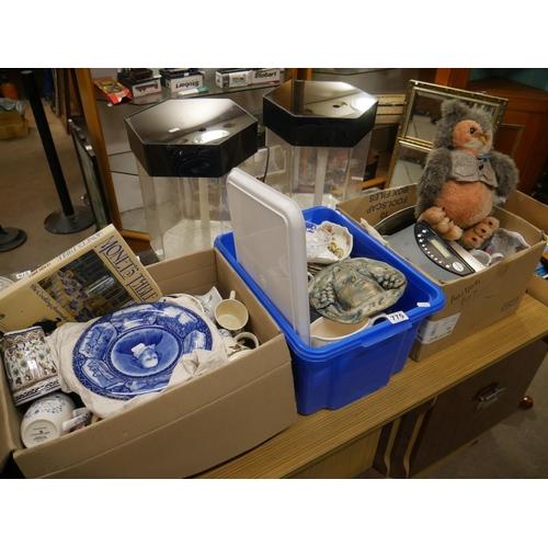 775 - 3 BOXES OF MIXED CERAMICS...