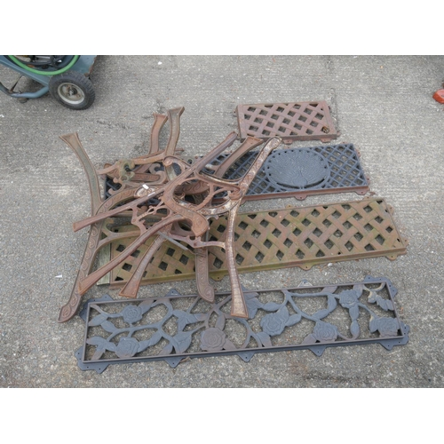 38 - LARGE LOT OF SEAT ENDS & BACKS