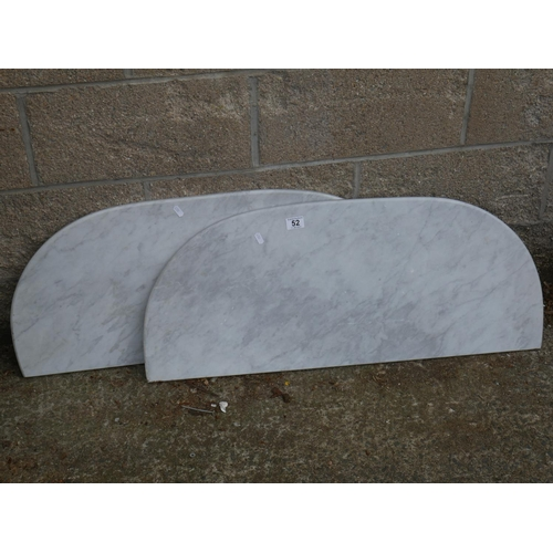 52 - 2 MARBLE TABLE TOPS