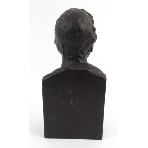 9 - Victorian bronze bust of Sir Walter Scott BARt, 32cm high...