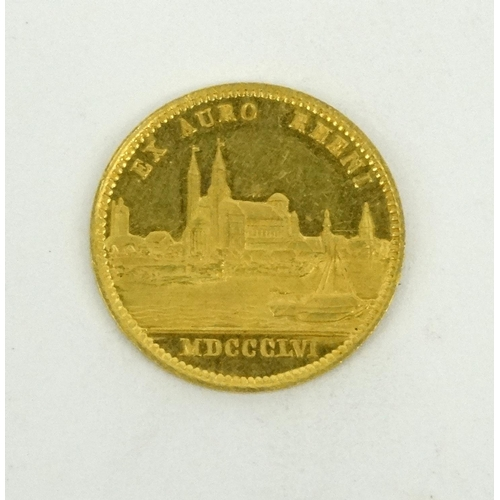 272 - Maximillian II gold coin, 2.1cm diameter...