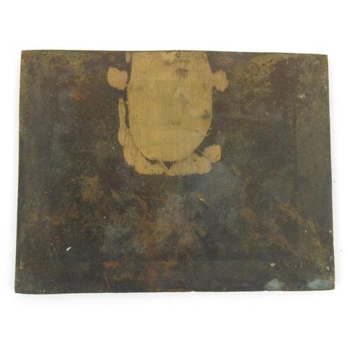11 - Continental 19th century bronze plaque of a tavern scene, 20cm x 15cm...