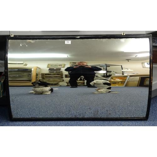 532 - Vintage circus mirror, 110cm x 66cm...