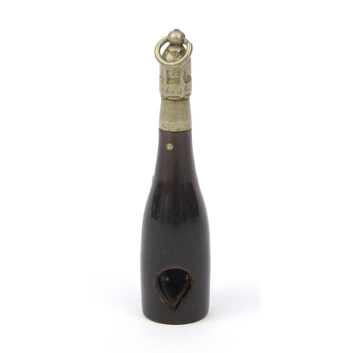 128 - Smoking interest cigar cutter in the form of a Bolinger champagne bottle, 5cm long...