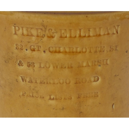 328 - Pike & Elliman Dark Shag stoneware tobacco jar, impressed marks to the reverse, 22.5cm high