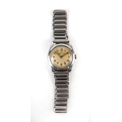 843 - Vintage gentleman's stainless still Rolex Oyster wristwatch with luminous dial and hands, No.223195 ...