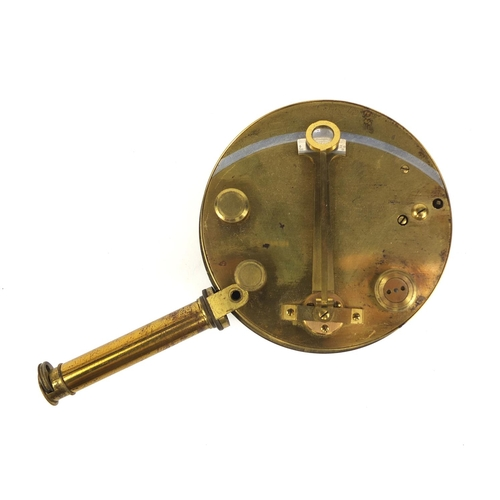 27 - 19th century Cary of London brass pocket sextant with silvered arch and detachable sighting tube, in...