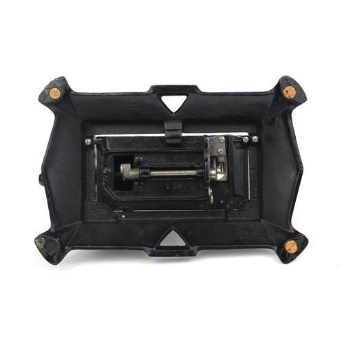 35 - Antique child's mechanical sewing machine, No.2683, 20cm high