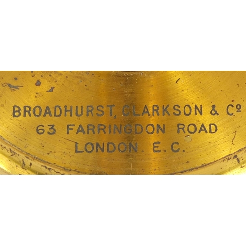 30 - Charles Perry of London adjustable brass microscope together with a broadhurst Clarkson & Co brass m...