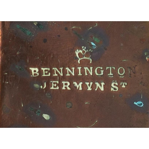 49 - Victorian copper jelly mould, stamped Bennington Jermyn St to the rim, 13cm high