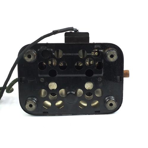 46 - Vintage Jydsk enamelled wind up telephone, 33cm high