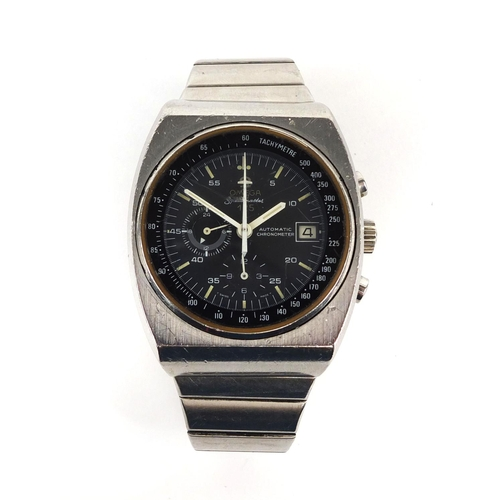 1042 - Vintage gentleman's Omega Speedmaster automatic chronometer wristwatch, 125 year anniversary, 3.8cm ...