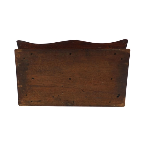 35 - Victorian mahogany two section cutlery tray, 14m high x 41cm wide x 25cm deep