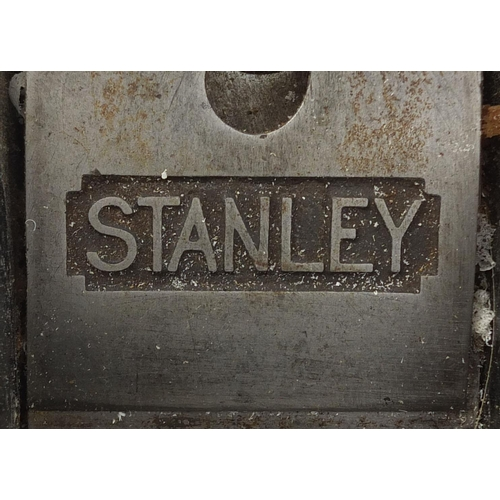 39 - Collection of Stanley smoothing planes, including model No.6, No.7 and No.4 the largest 42cm in leng...