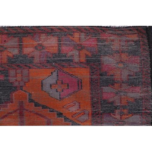 2019 - Rectangular Luri tribal rug decorated with an all over geometric design, 257cm x 147cm