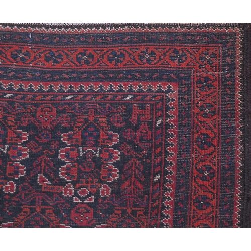 2041 - Rectangular Afshar carpet runner decorated with an all over floral and repeat pattern design, 220cm ...