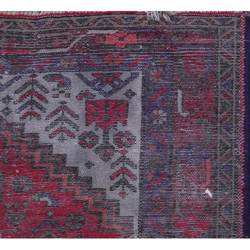 2027 - Rectangular Hamadan rug decorating with an all over floral design within three borders, 151cm x 103c...
