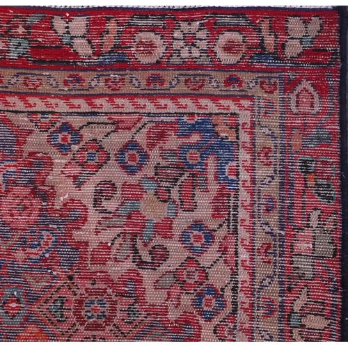 2049 - Rectangular Hamadan with all over geometric stylised floral borders, 199cm x 103cm