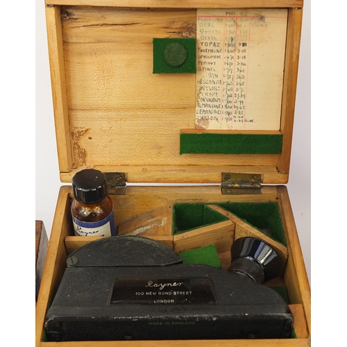 58 - Scientific instruments and equipment including a cased Beck of London microscope model 10, J H Stewa...