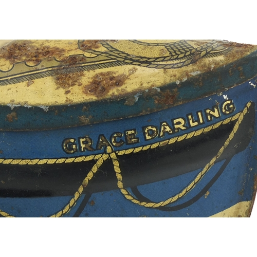 51 - Carr & Co of Carlisle Grace Darling biscuit tin on wheels, 26cm in length