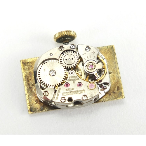 1065 - 18ct gold Jaeger Le-Coultre drivers watch, numbered 1335510 to the back of the case, the case approx...