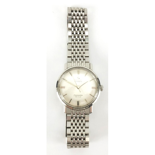 1066 - Omega Seamaster Deville automatic stainless steel wristwatch, 3.5cm in diameter excluding the crown...