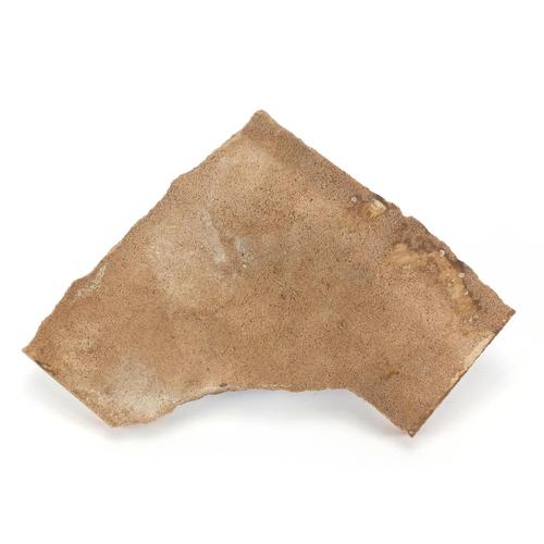 641 - Ottoman exercise tile fragment, 19cm x 19cm...