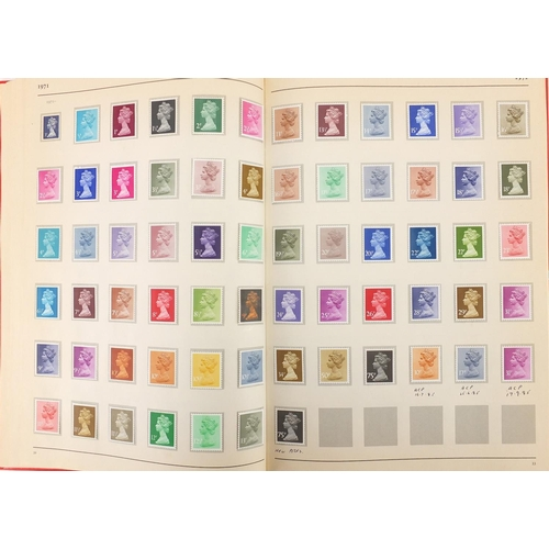 195 - King George V and later British stamps, arranged in a Stanley Gibbons stamp album including a Postal...