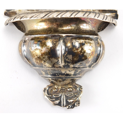 8 - 19th century silver Holy Water Stoop, probably Italian, impressed marks, 18.5cm high, approximate we...