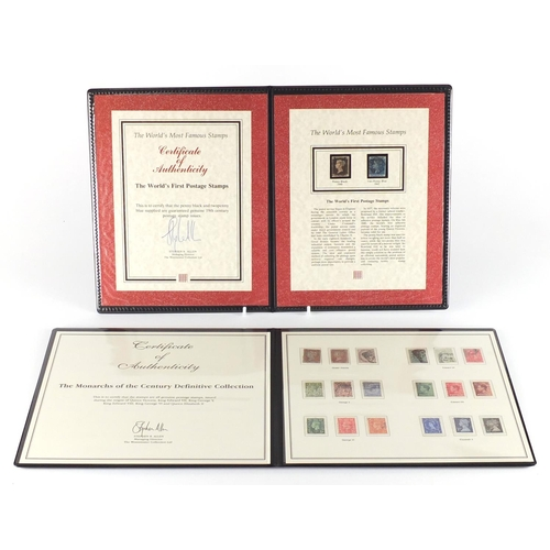 198 - The Monarchs of The Century Definitive Collection and The Worlds First Postage Stamps comprising an ...