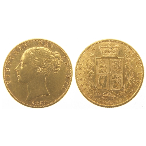 206 - Victoria Young Head 1859 Ansell gold sovereign...