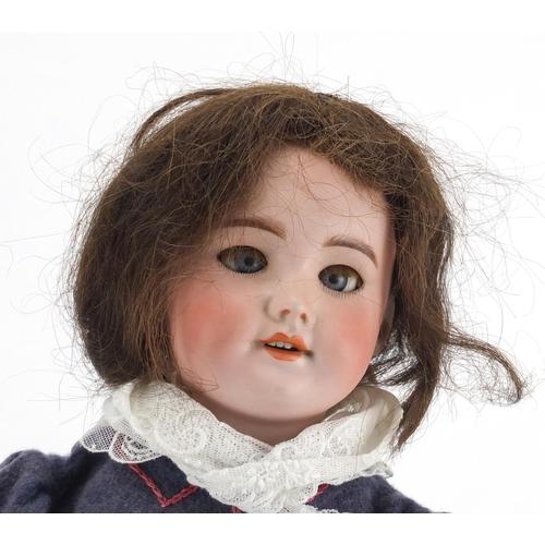 496 - 19th century French bisque headed doll by Societe de Fabrication des Bébés et Jouets, with open clos...