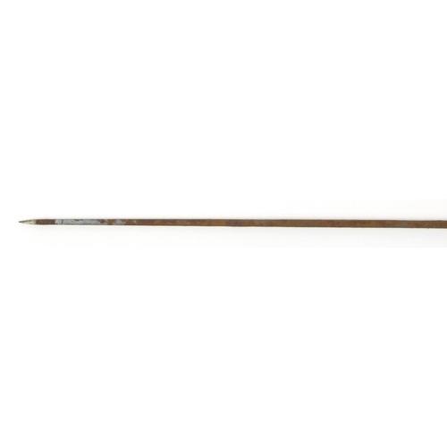 27 - Naturalistic swordstick by Molf of Birmingham, 92cm in length...