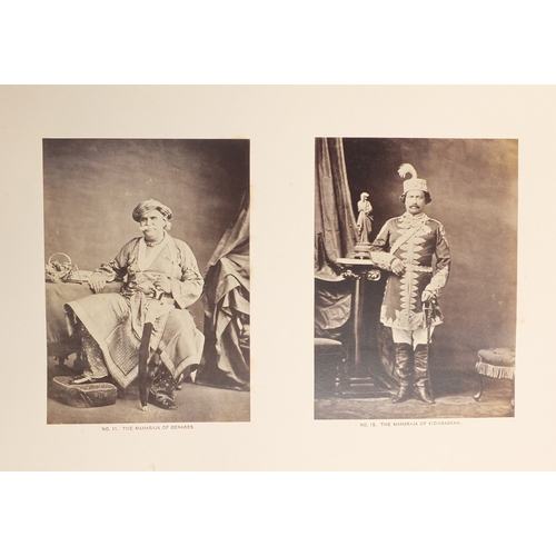 350 - 19th century Bourne and Shepherd Royal photograph album of Scenes and Personages Connected with HRH ...