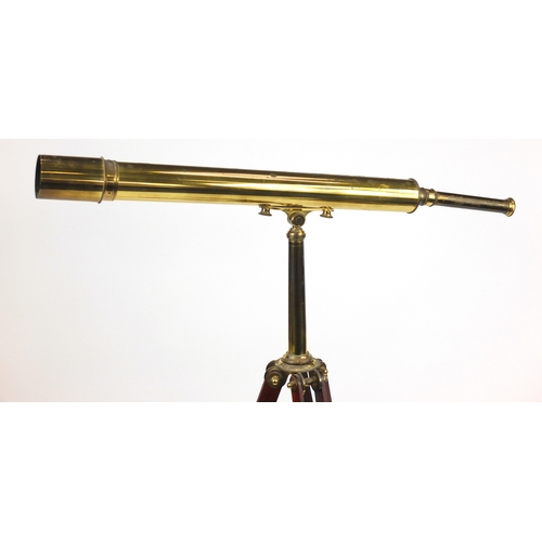 2033A - Brass and mahogany floor standing telescope, by Culpeper Instruments Ltd England, No123...