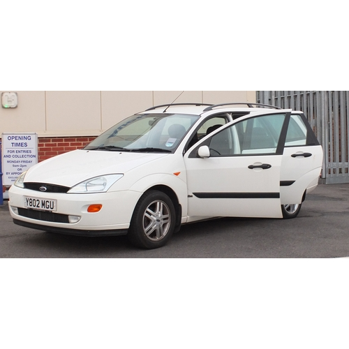 2001A - Ford Focus Zetec estate, 2001, 1800cc, petrol,  Y802 MGU, 81,000 miles, MOT 27th July 2019, Sold as ...