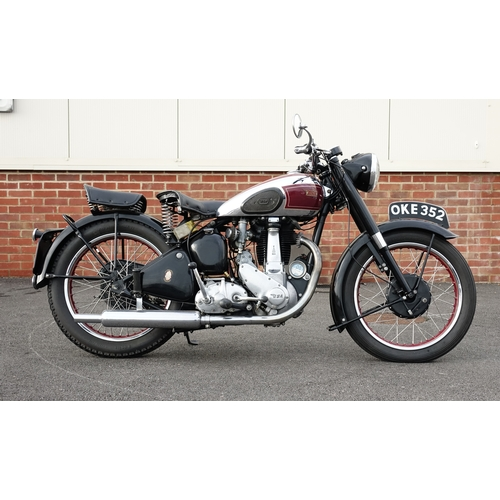 2001 - 1951 BSA B33 500cc motorbike, 41097 recorded miles, registeration OKE 352, three recorded previous o...