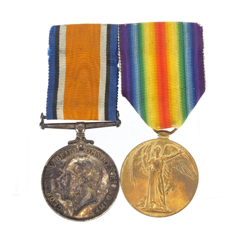 196 - British Military World War I pair awarded to 5159PTE.J.WEBSTER.R.HIGHRS....