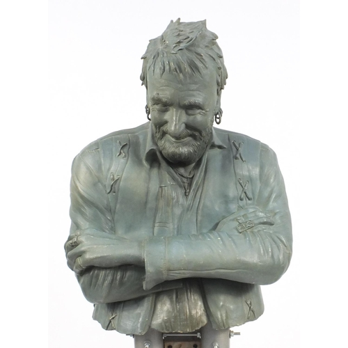 2040 - Jackie Summerfield, floor standing ceramic sculpture, Fingers Mick, 165cm high...